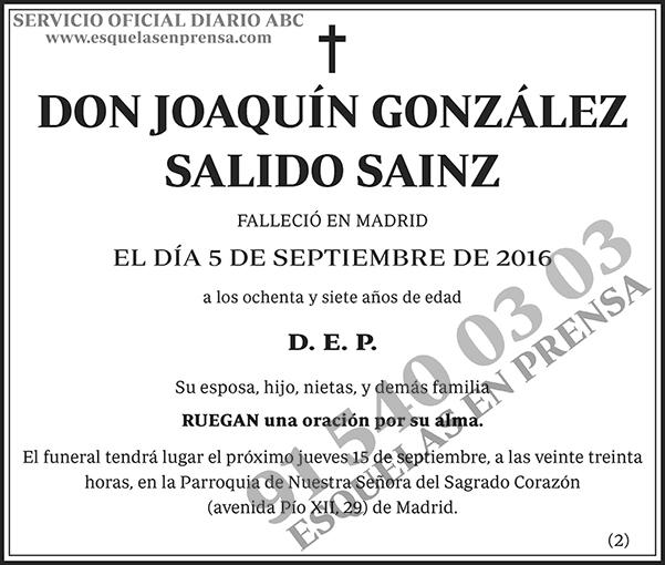 Joaquín González Salido Sainz
